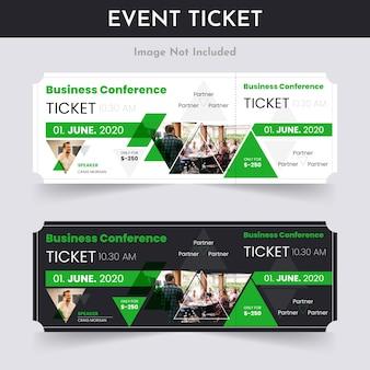 Geschäftskonferenz-ticket-pass-design