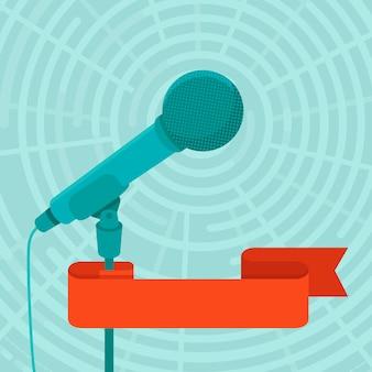 Geschäftskonferenz und konzept des öffentlichen sprechens