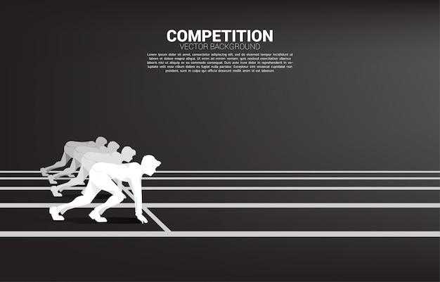 Geschäftskonkurrenz und herausforderungsschablone