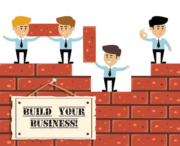 Geschäftskonzept aufbauen