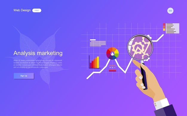 Geschäftskonzept für digitales marketing.