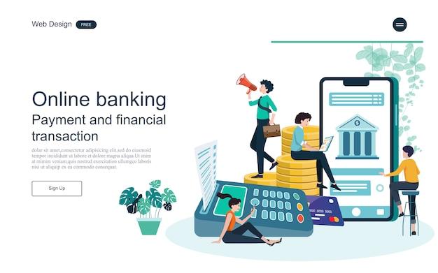 Geschäftskonzept für online-banking