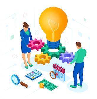 Geschäftskonzept für teamarbeit, zusammenarbeit, partnerschaft. kreative idee.