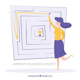 Geschäftskonzept mit labyrinth