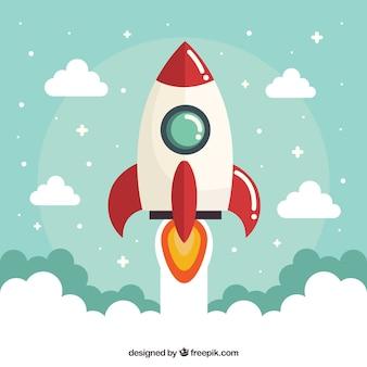 Geschäftskonzept mit rakete