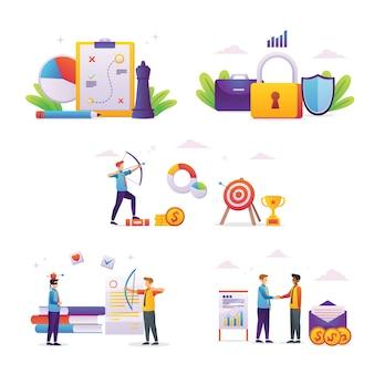 Geschäftskonzepte von illustrationsleuten von unternehmern