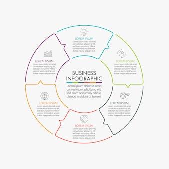Geschäftskreis. timeline infografik icons design