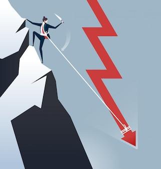 Geschäftskrise geschäftskonzept vektor