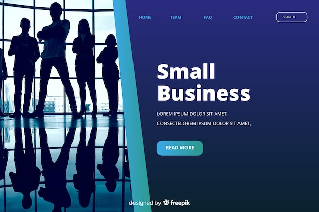 Geschäftslandungsseitenschablone mit foto
