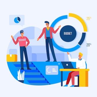 Geschäftsleute arbeiten illustriertes design