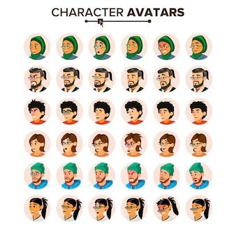 Geschäftsleute avatar set.