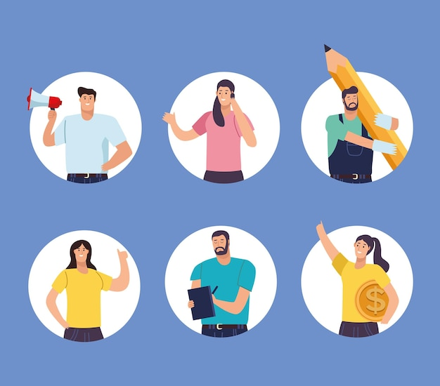 Geschäftsleute avatare arbeiter charaktere
