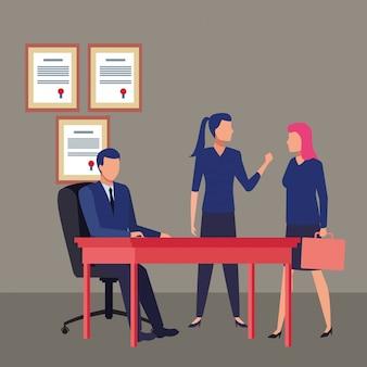 Geschäftsleute avatare zeichentrickfigur