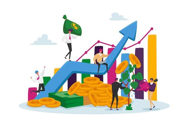 Geschäftsleute charaktere teamwork zusammenarbeit