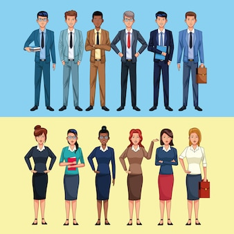 Geschäftsleute charaktere