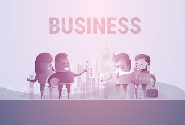 Geschäftsleute der gruppen-schattenbild-sitzung sprechen diskussions-kommunikations-konzept