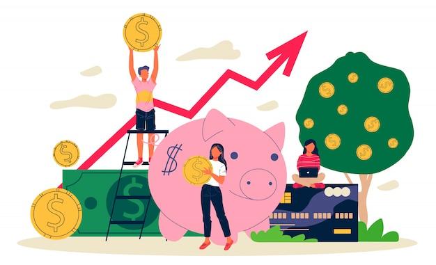 Geschäftsleute, die in projekte mit hohem potenzial investieren