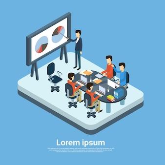 Geschäftsleute, die seminar-training treffen