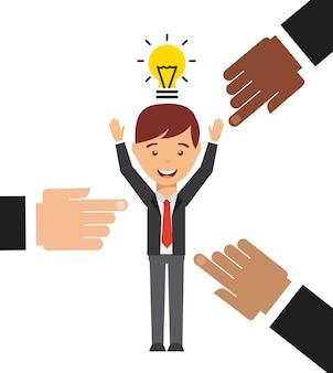 Geschäftsleute entwerfen