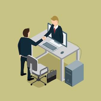 Geschäftsleute erfolg mit handschlag