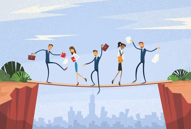 Geschäftsleute group instabiles schütteln