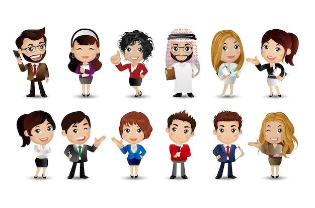 Geschäftsleute gruppe avatare charaktere vector
