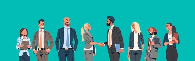 Geschäftsleute gruppe handshake banner