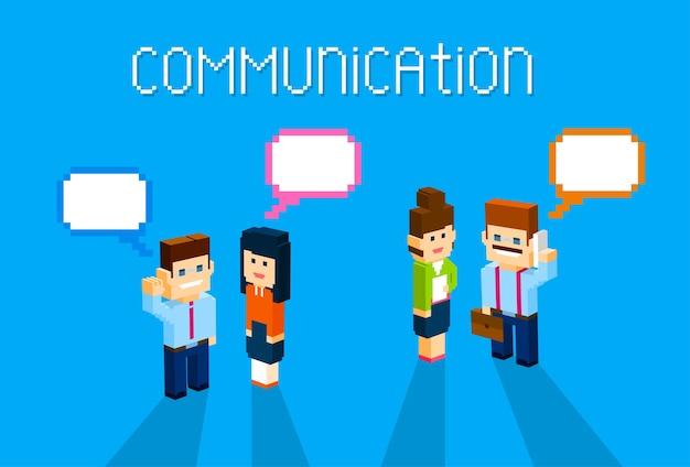 Geschäftsleute gruppen chat kommunikation