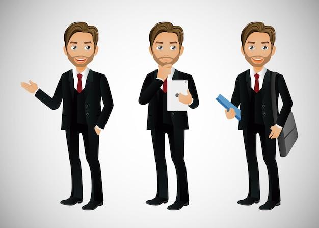 Geschäftsleute gruppieren avatare-charaktere