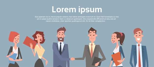 Geschäftsleute gruppieren team human resources-geschäftsmann hand shake agreement