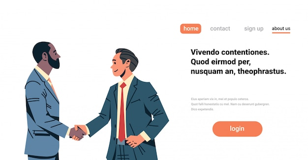 Geschäftsleute handshake vereinbarung banner
