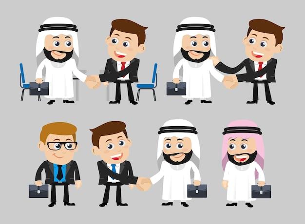Geschäftsleute im kooperations- und partnerschaftskonzept