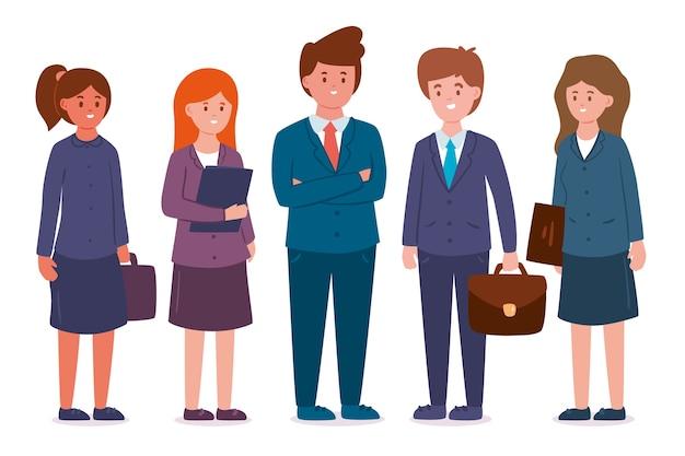 Geschäftsleute in anzügen