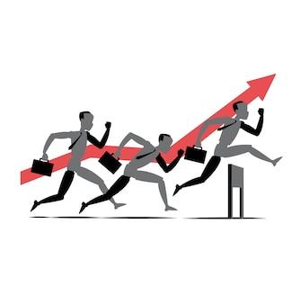 Geschäftsleute in einem rennen