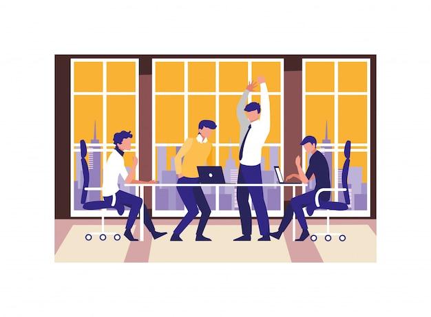 Geschäftsleute in meeting-, planungs- und marktforschung