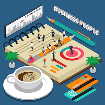 Geschäftsleute isometrisch