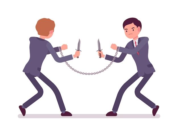 Geschäftsleute khife kämpfen