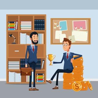 Geschäftsleute mit aktentasche