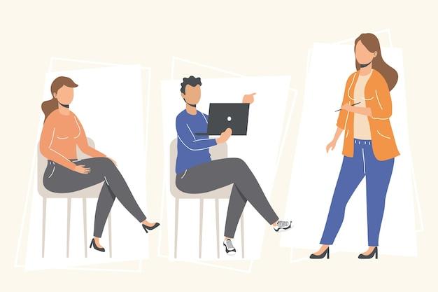 Geschäftsleute mit laptop