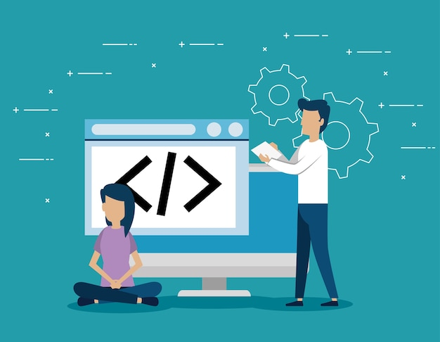 Geschäftsleute mit start-up stellen icons
