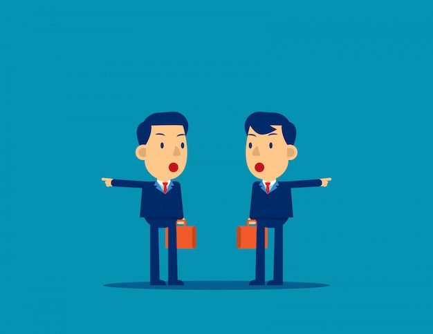 Geschäftsleute mit unterschiedlichen richtungen