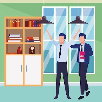 Geschäftsleute partner mit dokumenten