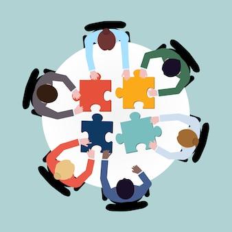 Geschäftsleute puzzle