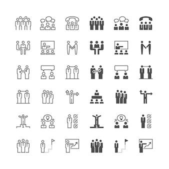 Geschäftsleute symbole