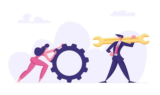 Geschäftsleute teamwork charaktere illustration