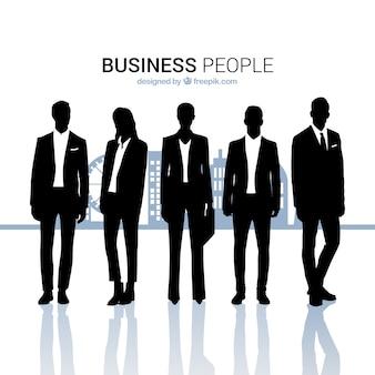Geschäftsleute umreißt sammlung