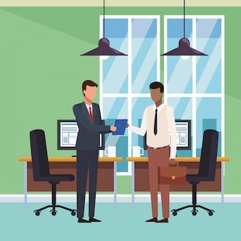 Geschäftsleute und büro