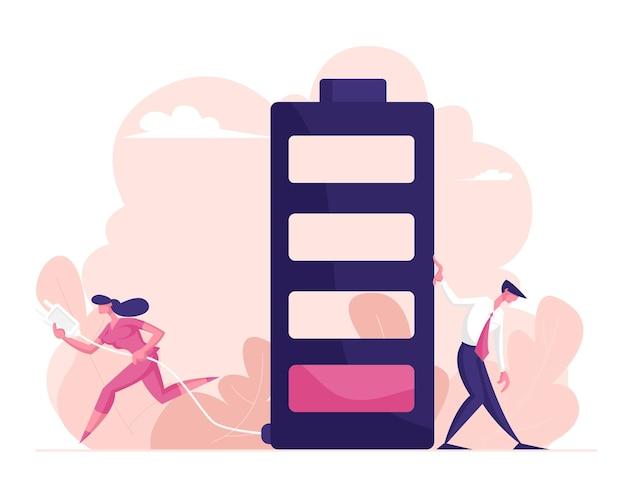 Geschäftsleute und lebensenergiekonzept
