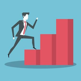 Geschäftsleute und statistiken