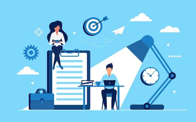 Geschäftsleute verdienen geld im heim- oder bürokonzept
